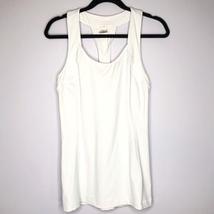 Calia White Twist Back Double Layer Tank Size M